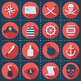 套海盗或海象,传染媒介例证 免版税库存照片