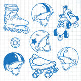 套溜冰鞋 免版税库存图片