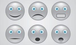 套灰色颜色面带笑容  免版税库存照片