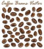套烤咖啡豆元素传染媒介和阴影在白色背景 库存例证