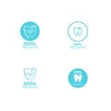 套牙齿诊所商标牙象 库存图片
