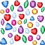 套现实珠宝 五颜六色的宝石 光栅宝石例证 免版税库存图片