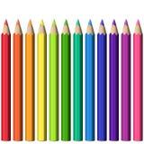 套现实锋利的五颜六色的铅笔 皇族释放例证