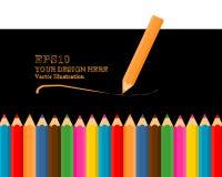 套现实3D五颜六色的色的铅笔或蜡笔 皇族释放例证