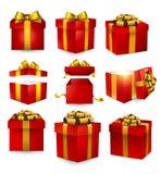 套现实3d礼物盒 向量例证