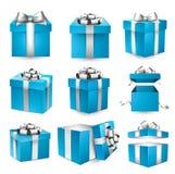 套现实3d礼物盒 库存例证