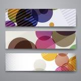 套现代设计在抽象背景样式的横幅模板 免版税库存照片