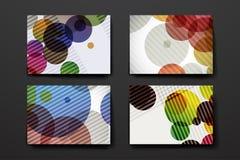 套现代设计在抽象背景样式的横幅模板 库存照片