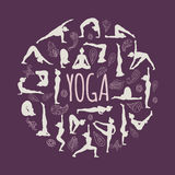 套瑜伽姿势 免版税库存图片