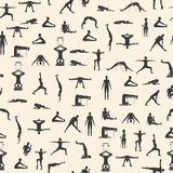 套瑜伽姿势 图库摄影