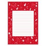 套用信函的传染媒介例证给圣诞老人的 库存例证