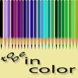 套由凉快的颜色的色的铅笔 免版税库存照片