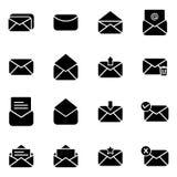 套电子邮件和消息的象 免版税库存图片