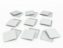 套白色箱子 免版税库存照片