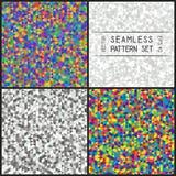 套相称Tr的五颜六色和单色无缝的样式 免版税库存照片