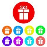 套礼物平的象按钮,储蓄传染媒介例证 库存例证