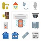 套空调器,米,遥控,聪明的家,拨号盘, Interco 向量例证