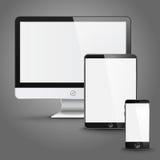 套站点预览的所有大小屏幕设备 库存照片