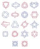 套简单和优美的单色组合图案 皇族释放例证