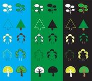 套简单的树网象 免版税图库摄影