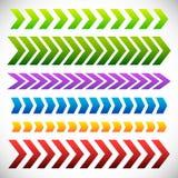 套箭头,箭头元素 6不同五颜六色的箭头sha 库存照片