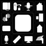 套米,盘区,仪表板,遥控,声音控制, Automatio 皇族释放例证