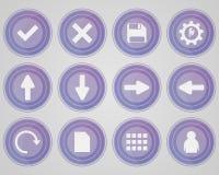 套紫色色的象 免版税图库摄影
