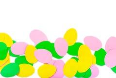 套纸鸡蛋,与孩子的工艺, 免版税库存照片
