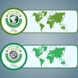 套网横幅,设计为世界环境日,庆祝 免版税库存照片