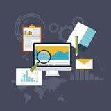套网逻辑分析方法信息和发展网站统计学者 免版税库存图片