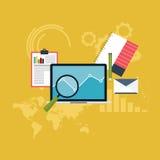 套网逻辑分析方法信息和发展网站统计学者 图库摄影