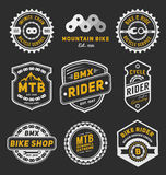 套自行车徽章商标模板设计 库存例证