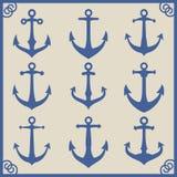 套船锚象签署设计师的元素 皇族释放例证