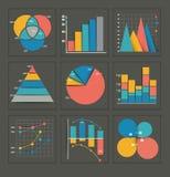 套色的企业图表 库存例证
