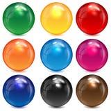 套色的球形 库存图片