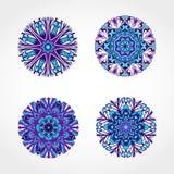 套色的装饰圆的装饰品 向量 免版税图库摄影