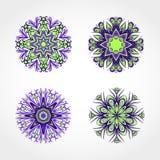 套色的装饰圆的装饰品 向量 图库摄影