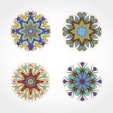 套色的装饰圆的装饰品 向量 皇族释放例证