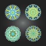 套色的装饰圆的装饰品 向量 向量例证