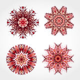套色的装饰圆的装饰品 向量 免版税库存图片