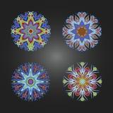 套色的装饰圆的装饰品 皇族释放例证