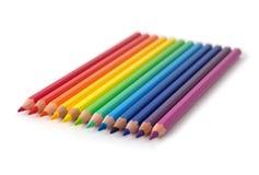套色的铅笔 免版税库存照片