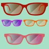 套色的glasses02 免版税库存图片