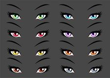 套芳香树脂, manga样式眼睛 皇族释放例证