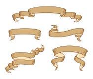套葡萄酒丝带横幅 也corel凹道例证向量 向量例证