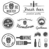 套葡萄酒商标、徽章、象征或者略写法 免版税库存照片
