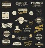 套葡萄酒称呼了设计商标和横幅 向量例证