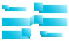 套蓝色按钮 免版税图库摄影