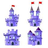 套蓝色神仙的城堡 库存图片