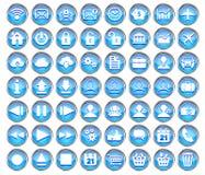 套蓝色网、多媒体和企业象 向量例证